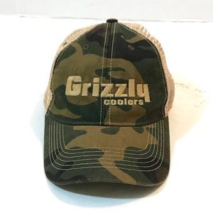 Grizzly Coolers camouflage mesh SnapBack hat